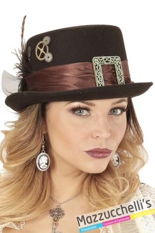 cappello cilindro steampunk viaggiatore nel tempo halloween carnevale e altre feste a tema - Mazzucchellis