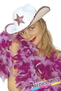 cappello cowgirl del west rosa carnevale halloween e altre feste a tema - Mazzucchellis