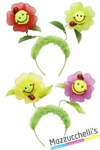 cerchietto con fiori carnevale halloween altre feste a tema - Mazzucchellis