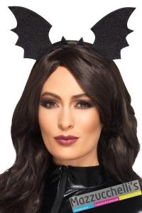 cerchietto pipistrello nero halloween strega - Mazzucchellis