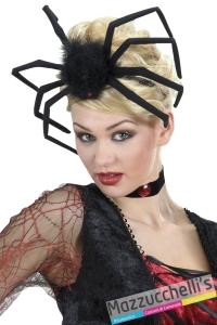 cerchietto ragno nero maxi da strega vampira halloween carnevale e altre feste a tema - Mazzucchellis