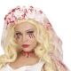 cerchietto velo da sposa con sangue horror sposa cadavere halloween - Mazzucchellis