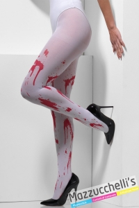 collant bianche con il sangue zombie horror carnevale halloween o altre feste a tema - Mazzucchellis