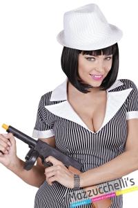 copricapo Cappello Fedora Bianco Gessato Anni '20 Gangster carnevale halloween altre feste a tema - Mazzucchellis 2