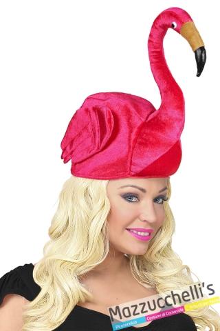 copricapo fenicottero rosa carnevale halloween altre feste a tema - Mazzucchellis 1
