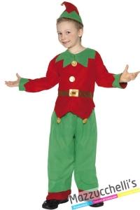 costume bambino aiutante di babbo natale elfo - Mazzucchellis