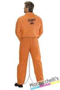 costume detenuto americano usa carcerato carnevale halloween - Mazzucchellis