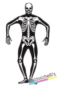 costume second skin scheletro halloween - Mazzucchellis