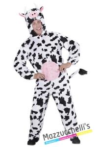 costume tuta animale della fattoria mucca - Mazzucchellis