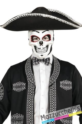 farfallino scheletro Day of the Dead -Il giorno dei Morti CARNEVALE HALLOWEEN ALTRE FESTE A TEMA - Mazzucchellis