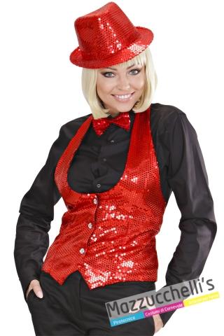 gilet elegante Rosso Showtime Donna da Presentatrice, Carnevale, Halloween o altre feste a tema - Mazzucchelliss 1