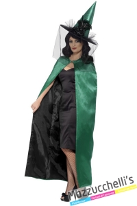 mantello verde strega halloween - Mazzucchellis