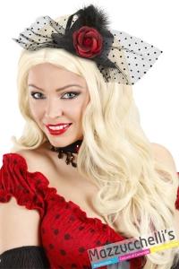 mini cappello con velo e rosa halloween carnevale altre feste a tema - Mazzucchellis