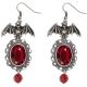 orecchini pipistrello con gemma da strega vampira diavoletta halloween - Mazzucchellis