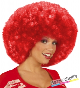 parrucca afro riccia rossa anni '60 '70 hippie clown circo carnevale halloween altre feste a tema - Mazzucchellis 1