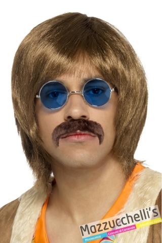 parrucca baffi e occhiali anni '60 - Mazzucchellis