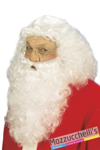 parrucca barba baffi bianchi da babbo natale - Mazzucchellis