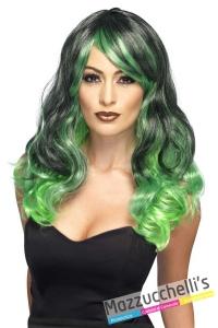 parrucca-verde-e-nera-lunga-mossa---mazzucchellis-44257