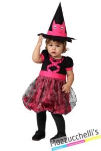 costume-bambina-neonata-strega-rosa-halloween---Mazzucchellis
