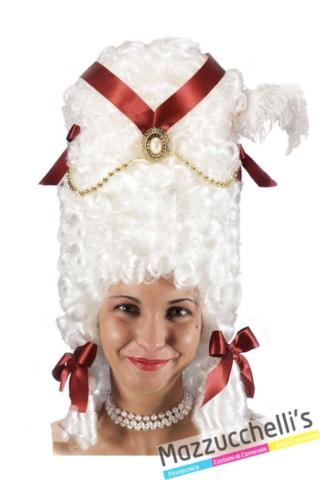 parrucca-bianca-pompadour-carnevale-dama---Mazzucchellis