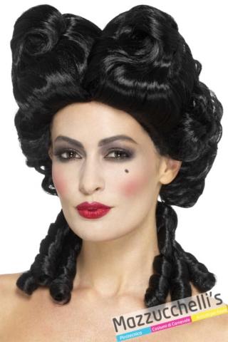 parrucca-dama-barocco-maria-antonietta-carnevale-nera---Mazzucchellis