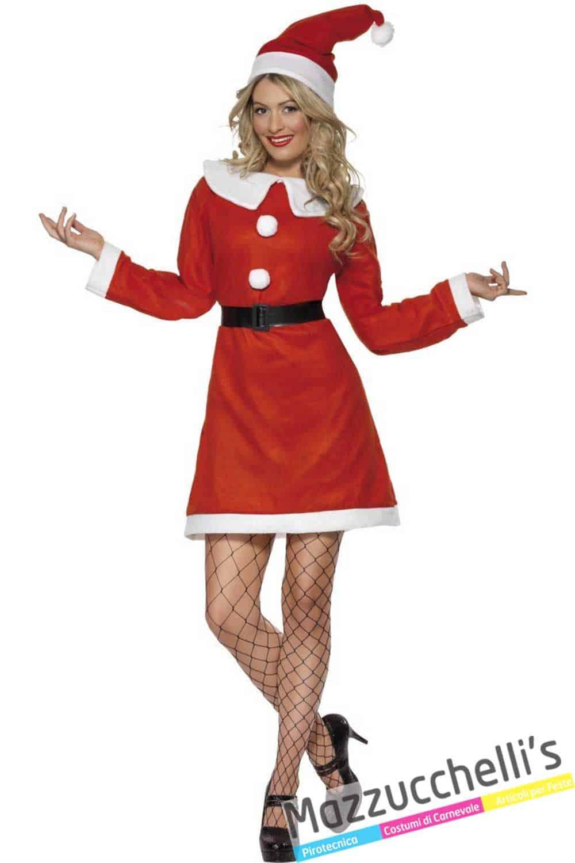 Babbo Natale Femmina Immagini.Costume Donna Babbo Natale