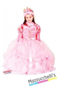costume-bambina-principessa-rosa-barbie-al-ballo---Mazzucchellis
