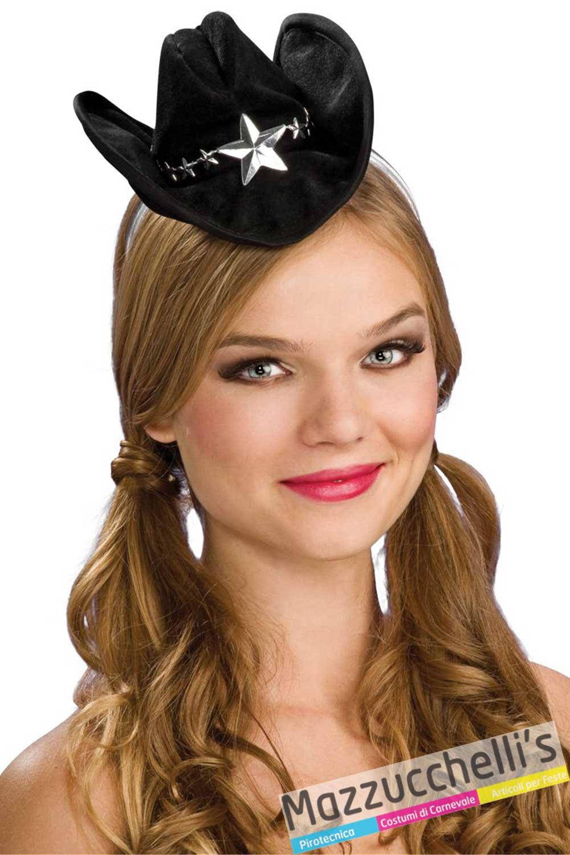 nuovi arrivi abbastanza economico acquista per Cerchietto Mini Cappello Sheriffo in vendita a Samarate ...