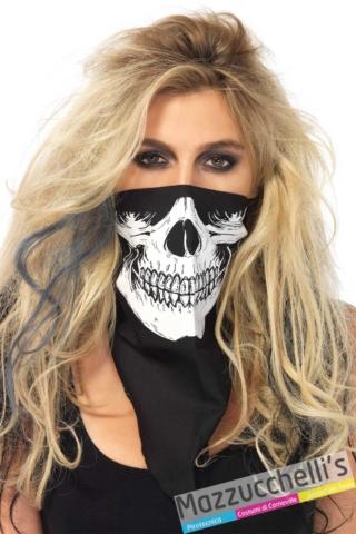 maschera-bandana-scheletro-halloween-carnevale---Mazzucchellis