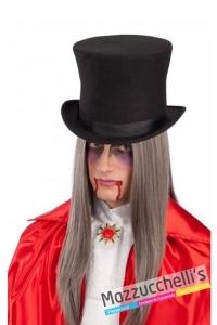 cappello-tuba-lusso-nera-in-feltro-di-lana---Mazzucchellis