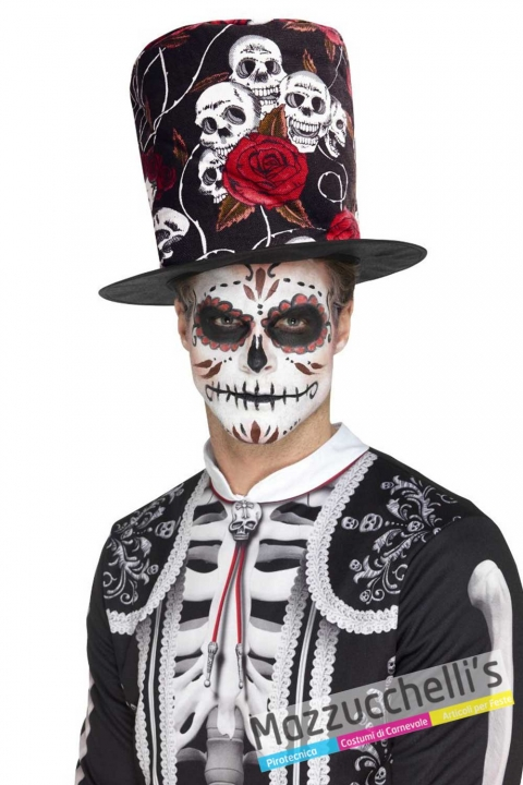 cilindro-cappello-day-of-the-dead-halloween-horror---Mazzucchellis