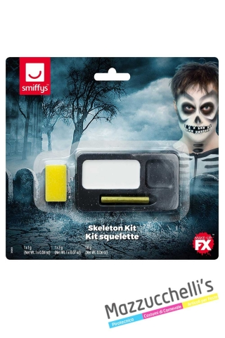 kit-trucco-make-up-scheletro-halloween-horror---Mazzucchellis