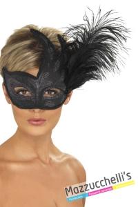 maschera-veneziana-nera-dama-strega-vampira---Mazzucchellis