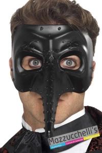 mezza-maschera-nera-medico-della-peste-halloween-horror---Mazzucchellis