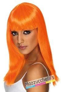 parrucca-arancione-strega-zucca-halloween-horror---Mazzucchellis