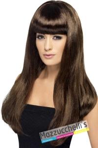 parrucca-castana-lunga-liscia-con-frangia---Mazzucchellis