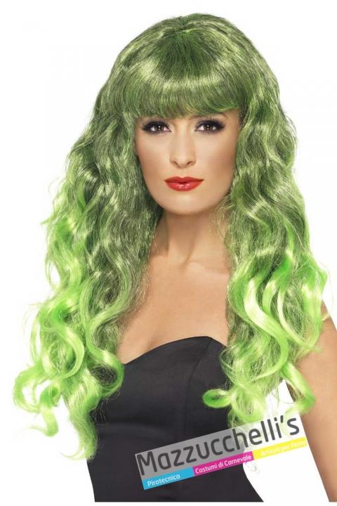 parrucca-lunga-mossa-verde-con-frangia-strega---Mazzucchellis