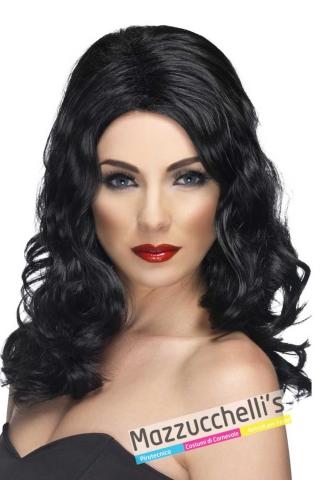 parrucca-nera-lunga-mossa---Mazzucchellis