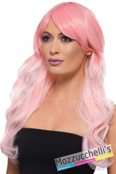 parrucca-rosa-lunga-mossa-donna---mazzucchellis