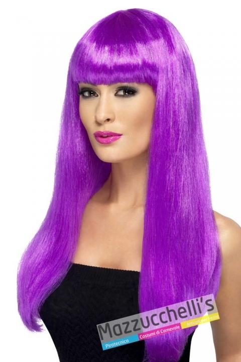 parrucca-viola-lunga-liscia-con-frangia---Mazzucchellis