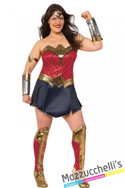 COSTUME-DONNA-SEXY-FILM-SUPEREROE-WONDER-WOMAN-Justice-League CURVY--MAZZUCCHELLIS